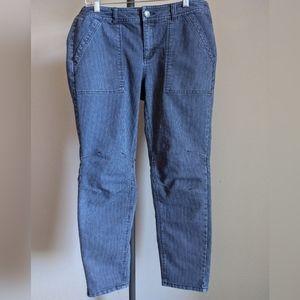 Free People Railroad Utility Skinny Jeans